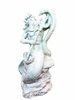 "16"" Poseidon Statue - Antique White"