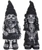 "16"" Skeleton Gnome Couple (Set of 2)"