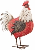 "17"" Country Rooster Decor - Red/White"