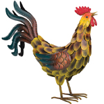 "17"" Tuscan Rooster Decor"