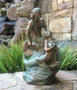 "18"" Mermaid & Merman Statue - Bronze Patina"