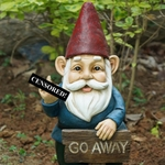 "18"" Middle Finger Go Away Gnome"