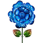 "18"" Solar Bloom Garden Stake - Blue"