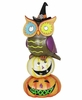"18"" Spooky Owl on Stacked Pumpkins"