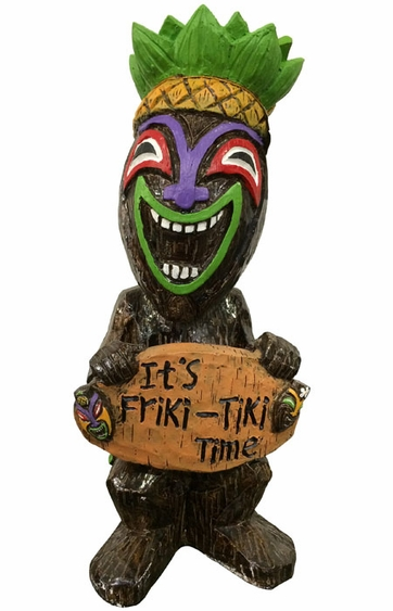 18 Quot Tiki Time Statue Only 49 99 At Garden Fun