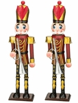 "19"" Red Toy Soldiers w/Horn (Set of 2)"