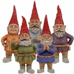 "20"" Toad Hollow Gnomes (Set of 5)"