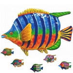 "20"" Tropical Fish Wall Decor (Set of 6)"