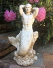 "21"" Merman Statue - Antique White"