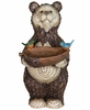 "21"" Woodland Bear Bird Feeder"