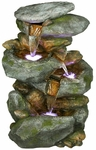 "22"" Rocky Falls Outdoor Fountain w/LED Lights"