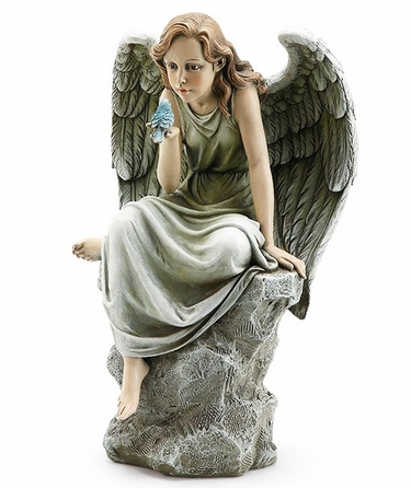 Heavenly Angel Holding Bird - Click to enlarge