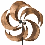 "24"" Rotating Kinetic Stake - Bronze Flower"
