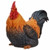 "24"" Squatting Rooster Statue"