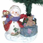 "25"" Fiber Optic Christmas Tree - Jolly Snowman"