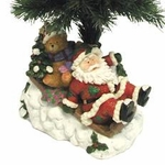 "25"" Fiber Optic Christmas Tree - Santa on Sleigh"