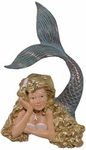 "25"" Resting Mermaid Wall Art - Golden Blonde"