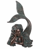 "25"" Resting Mermaid Wall Art - Verde Bronze"