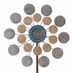 "26"" Blue Medallion Wind Spinner"