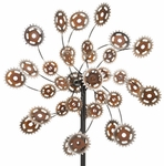 "26"" Rustic Gears Kinetic Wind Spinner"