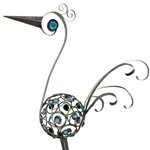 "21"" Metal Filigree Bird - Pewter"