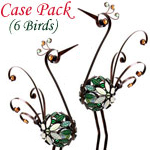"21"" Mosaic Filigree Birds (Set of 6)"