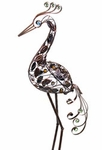 "29"" Filigree Heron Bird - Pewter"