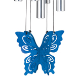 "30"" Butterfly Wind Chime - Blue"