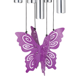 "30"" Butterfly Wind Chime - Purple"