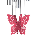 "30"" Butterfly Wind Chime - Rose"