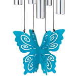 "30"" Butterfly Wind Chime - Teal"