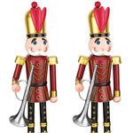 "30"" Red Toy Soldiers w/Horn (Set of 2)"