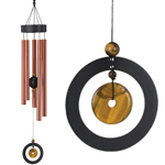 "32"" Healing Stone Wind Chime - Tiger's Eye"