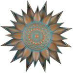 "34"" Patina Bloom Wall Decor"