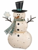 "36"" Rustic Snowman Decor"