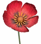 "36"" Textured Flower Stake - Poppy"