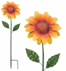 "36"" Textured Flower Stake - Sunflower"