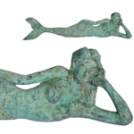 "39"" Dreamy Mermaid Lying Statue - Shipwreck Finish"