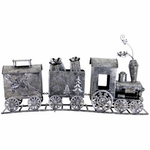 "39"" Metal 3-Part Train Statue"