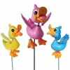 Funny Doodler Ducks Garden Stakes (Set of 6)