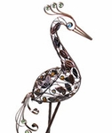 "40"" Filigree Heron Bird - Bronze"