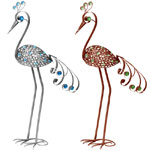 "41"" Filigree Bird Combo - Pewter & Bronze"