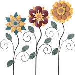 "42"" Rustic Flower Stakes (Set of 3)"