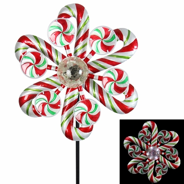 47 Quot Solar Kinetic Christmas Stake Candy Cane Only 79 99