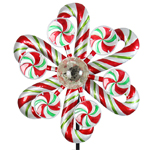 "47"" Solar Kinetic Christmas Stake - Candy Cane"