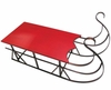 "48"" Wood & Metal Red Display Sled"