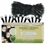 100-LED WHITE String Lights - Battery Powered