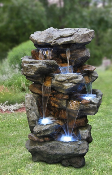 51 rocky waterfalls outdoor fountain wled lights only 179999 at 51 workwithnaturefo