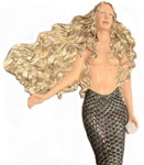"56"" Wall Mermaid - Golden Blonde"