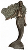 "56"" Wall Mermaid - Greenish Bronze"